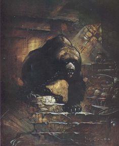 Grizzly Bear by Frank Frazetta