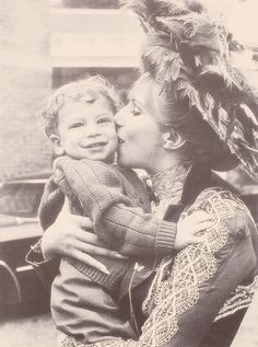 Barbra Streisand and son, Jason Gould on the set of Hello Dolly!,1969. (x)  Source: oh-thewaywewere