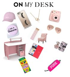 """""""Full on girlie girl look"""" by rudycastaneda-rc on Polyvore featuring Fujifilm, Casetify, Ray-Ban, Legaré, Bling Jewelry, Home Decorators Collection and onmydesk"""