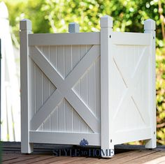 HAMPTONS Beach White Outdoor Planter Boxes Style My Home Australia Sydney – Home living color wall treatment kitchen design White Planter Boxes, Outdoor Planter Boxes, Diy Planter Box, White Planters, Wooden Planters, Diy Planters, Die Hamptons, Hamptons Style Decor, Hampton Garden