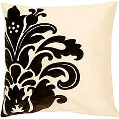 @Overstock - This beautiful 'Hilly' square decorative pillow features a lovely black floral design on a cream background. The pillow is filled with down for ultimate comfort.  http://www.overstock.com/Home-Garden/Hilly-Down-Square-Decorative-Pillow/6428531/product.html?CID=214117 $43.99