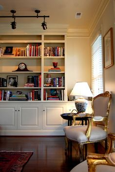 Custom built-in bookcase - traditional - living room - richmond - Leslie Stephens Design