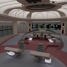 Spaceship Interior, Futuristic Interior, Star Trek Bridge, Star Trek Ships, Star Trek Voyager, Space Crafts, Si Fi, Fantasy Sword, Mansions