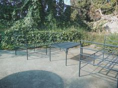Muebles para terraza fierro forjado Andres Gasman