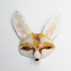 abigailbrown — Paper Mâché Head - Fennec Fox