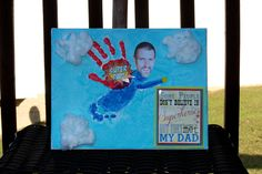 Super Hero - Father's Day - Hand Print - Foot Print - My Daddy Is A Super Hero Craft - Super Dad - Superman