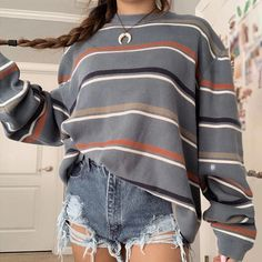 We offer fashion and quality at the best price including women' clothing, accessories, shoes, bags. Grunge Style, Style Indie, Soft Grunge, Cute Casual Outfits, Retro Outfits, New Outfits, Fashion Outfits, Long Sleeve Outfits, Long Sleeve Sweater
