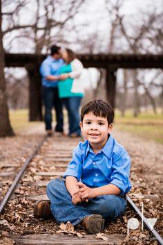 Valdez family maternity mini portrait session Fort Worth Trinity park outdoor track train spring baby brother Sarah Whittaker Photo La Vie http://www.photolavie.com