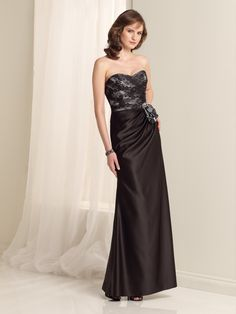 Sweetheart Floor Length Satin Sheath Column Pleating Bridesmaid Dress