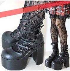 Nana Pump Heels Kera Doll U.S Size 5.5,6,6.5,7,7.5,8, 8.5, 9 Worldwide Free Shipping Gorgeous Goth Shoes