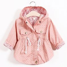 Sale $11.32, Buy Hot Fashion Children's Jacket Girls Outwear Casual Hooded Coats Girls Jackets School 2-8Y Baby Kids Trench Spring Autumn SC410