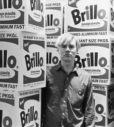 Andy Warhol photographed by Fred W. McDarrah.
