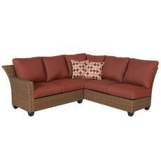 Tobago 2pc Fully Woven Sectional Set