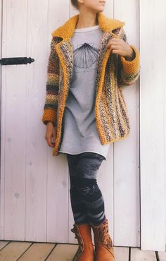 Ravelry: Wandering Jane Jacket pattern by Elina Vaananen Crochet Coat, Crochet Jacket, Crochet Cardigan, Crochet Clothes, Knit Jacket, Lion Brand Wool Ease, Quick Crochet, Jacket Pattern, Long Jackets