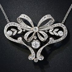 Edwardian Diamond Bow Necklace