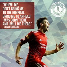 Steven Gerrard is leaving Liverpool FC at the end of the season. Football Ads, Football Quotes, Soccer Quotes, Alabama Football, American Football, College Football, Football Players, Liverpool Players, Liverpool Football Club