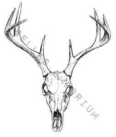 Skull Temporary Tattoo Deer Head Temporary by JoellesEmporium