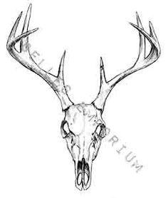Skull Temporary Tattoo Deer Head Temporary by JoellesEmporium