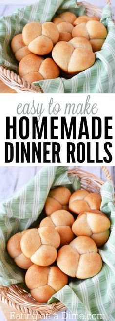 This easy homemade dinner rolls recipe is so delicious. You will love this easy yeast rolls recipe! It's such an easy bread roll recipe everyone will love. #Thanksgiving #dinner #rolls