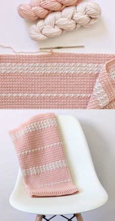 Free Pattern - Crochet Berry and Mesh Baby Blanket I found this Caron Pantone x Bamboo yarn on sale at my local Michael's earlier this summer, and I'm glad… Crochet Afghans, Crochet Blanket Patterns, Baby Blanket Crochet, Crochet Stitches, Knitting Patterns, Crocheted Baby Blankets, Crochet Daisy, Cute Crochet, Crochet Crafts