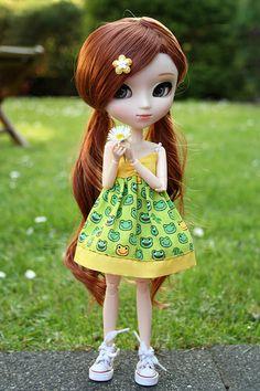 """""""everybody loves daisies ♥"""" Kawaii Doll, Kawaii Anime Girl, Anime Dolls, Blythe Dolls, Baby Barbie, Cute Baby Dolls, Gothic Dolls, Beautiful Barbie Dolls, Realistic Dolls"""