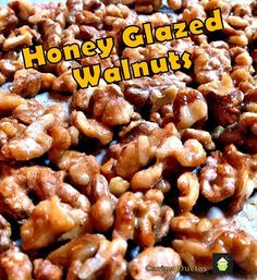 Honey Glazed Walnuts. A very simple and flexible recipe allowing you to choose your nuts and seasonings to suit! Only takes a few minutes to make too!  #snack #walnuts #honey