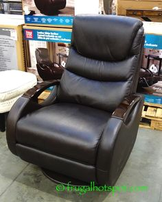 True Innovations Leather Glider Recliner. #Costco #FrugalHotspot & Barcalounger Leather Swivel Glider Recliner. #Costco ... islam-shia.org