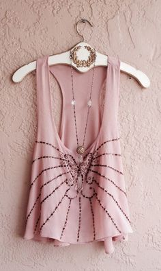 Great Gatsby Romantic silk bohemian blush pink