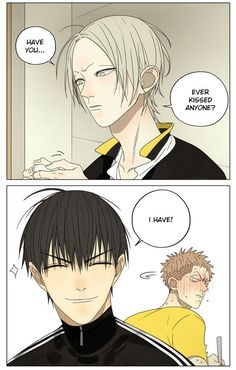 I love this moment, Jian Yi is too cute, He Tian is very happy of this and Mo Guan Shan blushing is just very cute! It's the first time he is like this!