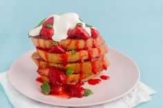 If you have a soft spot for French toast, this recipe is definitely for you! The delicious fresh strawberries make this so enjoyable for breakfast, or for brunch on a day off. Make up a batch to enjoy with a friend or with the family — I'm sure everyone will love it!  For those of you who prefer a savoury brunch, be sure to give my eggs with potato rosti and rocket recipe a try! The rosti is like having a healthier version of a hash brown!   Ingredients (makes 2 serves): 250g strawberries…