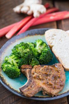 Skillet Rhubarb Pork Chops