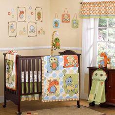 Cute dinosaur crib bedding set Baby Boy Bedding Sets, Custom Baby Bedding, Baby Crib Bedding Sets, Nursery Room Decor, Baby Boy Rooms, Nursery Bedding, Nursery Ideas, Room Ideas, Kids Rooms