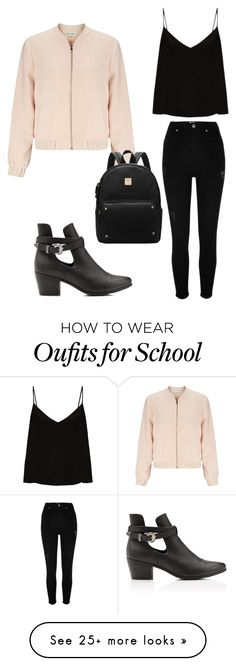 """""""Back to school"""" by kcdgarzon on Polyvore featuring Miss Selfridge, River Island and Raey"""
