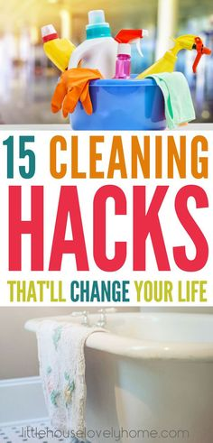 These cleaning tips are AMAZING! I know you'd rather spend your time doing anything else, but cleaning has got to be done. That's not to say it needs to take a long time, right? With these cleaning hacks you'll have a clean house in no time at all. cleaning tips | cleaning hacks | save time cleaning