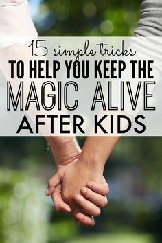 Parenthood is an amazing experience, but it's also tiring and leaves us little time for other things. Great tips to keep your marriage alive after kids!