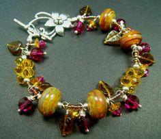 5 Fish Designs - Handmade Fine Jewelry Lampwork & Sterling Silver Bracelets...WOW!
