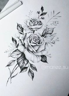 Ideas Tattoo Rose Dotwork Tat The Effective Pictures We Offer You About tattoo hand mand Tattoo Sketches, Tattoo Drawings, Body Art Tattoos, Sleeve Tattoos, Small Tattoos, Art Sketches, Floral Tattoo Design, Flower Tattoo Designs, Flower Tattoos