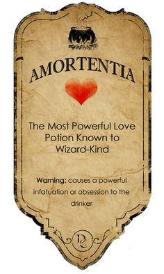 Amortentia potion label by ~rottenyouth on deviantART