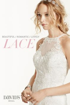 Beautiful and oh-so-romantic, lace is the must-have fabric for wedding dresses this season. Browse our laciest looks for Spring 2015 at David's Bridal.