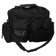 MFH Sac d`Intervention, Noir, avec Sangles Backpacks, Bags, Velcro, Rv, France, Medium, Fashion, Zipper, Black People