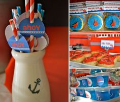 Pirate themed straws and other food items