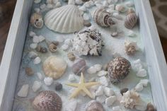 Sea Shell Shadow Box Table - Our Crafty Mom