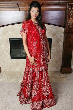 ON SALE> Maroon Red Bridal Lehenga. Lehenga Collection, Short Sleeve Dresses, Dresses With Sleeves, Bridal Lehenga, Website, Formal, Red, Tops, Style