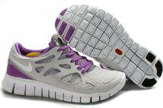 dd31658cd998 Pure Platinum White Wolf Grey Bright Violet Nike Free Run 2 Womens Running  Shoes