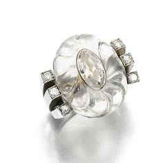 Boivin Art Deco Rock Crystal Ring, c.1932. Photo Courtesy of Sotheby's.
