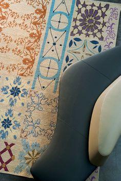 Handmade wool #rug ALLÉGLORIA by Toulemonde Bochart | #design Frédéric Ruyant @corinne MUNCH Bochart