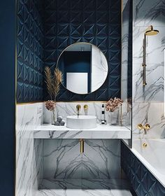 Every bathroom remodel begins with a design suggestion. From full master bathroom renovations, smaller sized visitor bath remodels, as well as bathroom remodels of all sizes. Modern Small Bathrooms, Small Bathroom Sinks, Modern Bathroom, Master Bathroom, Dream Bathrooms, Bathroom Ideas, Blue Bathrooms, Minimal Bathroom, Luxury Bathrooms