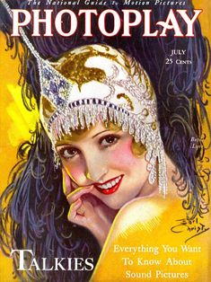 Photoplay July, 1929. Cover artist, F. Earl Christy