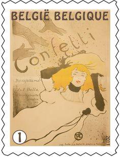 Postzegel: Henri de Toulouse-Lautrec: Confetti (België) (Henri de Toulouse-Lautrec) Mi:BE 4191,Yt:BE 4126,Bel:BE 4145