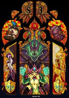 League of Legends Stained Glass